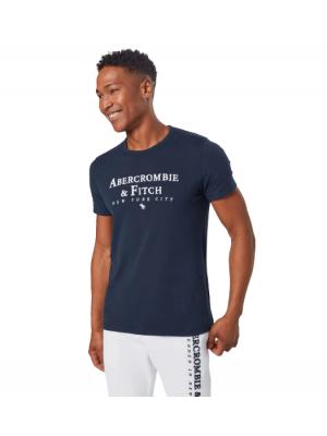 ΑΝΔΡΙΚΟ T-SHIRT ABERCROMBIE & FITCH ABT216-NAVY-BLUE