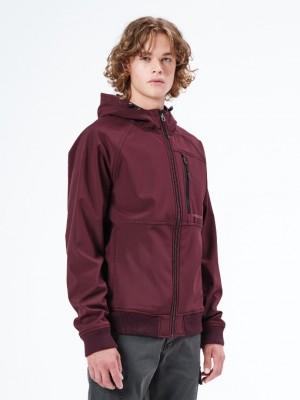 ΑΝΔΡΙΚΟ ΜΠΟΥΦΑΝ EMERSON Soft Shell Ribbed Jacket with Hood