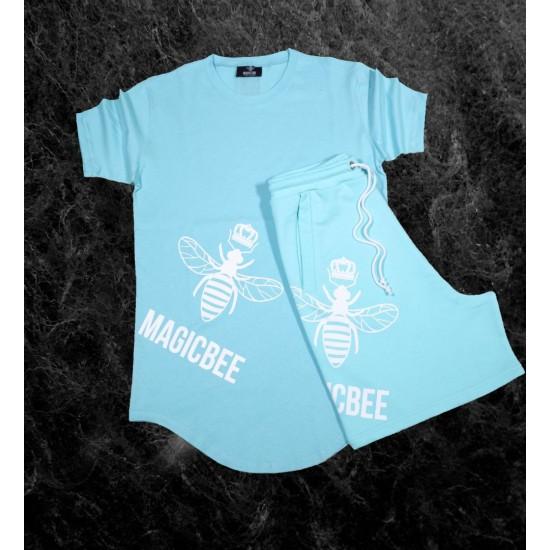 ΑΝΔΡΙΚΟ T-SHIRT MAGIC BEE CLOTHING WB20416_Mint Blue
